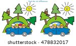 trip by car  find ten... | Shutterstock .eps vector #478832017