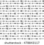 arrow doodle seamless pattern | Shutterstock . vector #478843117