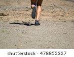 athletic male feet running on... | Shutterstock . vector #478852327