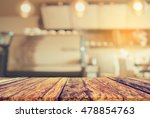 blur image of coffee shop with... | Shutterstock . vector #478854763