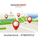 navigation concept road city... | Shutterstock . vector #478854913