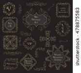 vintage floral set monogram... | Shutterstock .eps vector #478875583