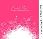 modern floral background | Shutterstock .eps vector #47887894