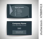 modern simple business card set ... | Shutterstock .eps vector #478889413