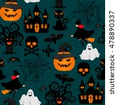 halloween crafts wrapping... | Shutterstock .eps vector #478890337