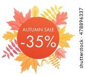 autumn sale 35  off circle... | Shutterstock .eps vector #478896337