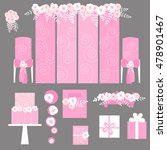 vector set of decorative... | Shutterstock .eps vector #478901467