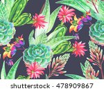 seamless pattern with... | Shutterstock . vector #478909867