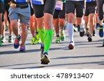 marathon running race  runners...   Shutterstock . vector #478913407