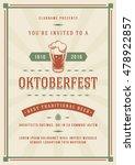 oktoberfest beer festival... | Shutterstock .eps vector #478922857