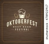 oktoberfest greeting card or... | Shutterstock .eps vector #478922917