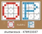 sudoku set with answers. o  p... | Shutterstock . vector #478923337