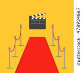 red carpet and rope barrier...   Shutterstock .eps vector #478924867