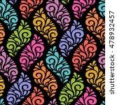 vector floral seamless pattern... | Shutterstock .eps vector #478932457
