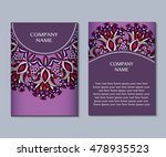 flyer template with abstract... | Shutterstock .eps vector #478935523