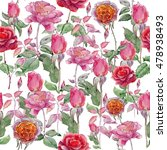 seamless floral pattern with... | Shutterstock . vector #478938493