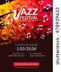 vector musical flyer jazz...   Shutterstock .eps vector #478939633
