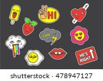 funny patches | Shutterstock .eps vector #478947127
