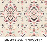 colorful ethnic seamless... | Shutterstock .eps vector #478950847