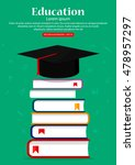 education theme. books with... | Shutterstock .eps vector #478957297