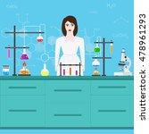 chemists scientists equipment.... | Shutterstock .eps vector #478961293