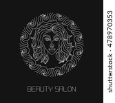 beauty salon logotype vector 2 | Shutterstock .eps vector #478970353
