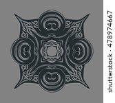 abstract ornate mandala. celtic ... | Shutterstock .eps vector #478974667
