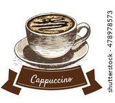 cappuccino coffee colorful...