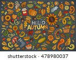 colorful vector hand drawn... | Shutterstock .eps vector #478980037