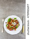 figs and gorgonzola and fried... | Shutterstock . vector #478983697