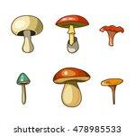 cartoon mushrooms  isolated...