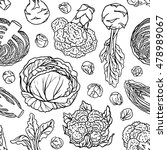 vegetable sketchy seamless... | Shutterstock .eps vector #478989067