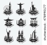 a set of stickers with the... | Shutterstock .eps vector #478990177
