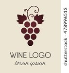 red colored grapes logo. wine...   Shutterstock .eps vector #478996513