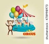 circus toys ballon icon | Shutterstock .eps vector #478998973