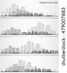 cityscape sets with various... | Shutterstock .eps vector #479007883
