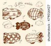 hand drawn vector vintage... | Shutterstock .eps vector #479016427