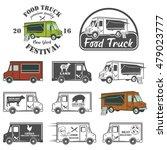 food truck street festival... | Shutterstock .eps vector #479023777
