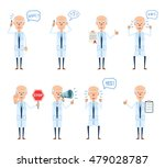 set of old professor characters ... | Shutterstock .eps vector #479028787