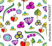 seamless raster floral pattern. ... | Shutterstock . vector #479056597