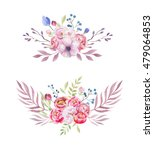 watercolor colorful ethnic set... | Shutterstock . vector #479064853