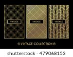 golden vintage pattern on black ... | Shutterstock .eps vector #479068153