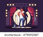 standup show character design | Shutterstock .eps vector #479092087