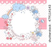 cute vector photo frame with... | Shutterstock .eps vector #479114143