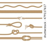 set of realistic vector brown... | Shutterstock .eps vector #479117617