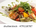 salad with smoked salmon and... | Shutterstock . vector #479118787