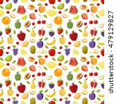 miscellaneous vector fruits... | Shutterstock .eps vector #479129827