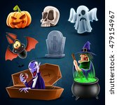 icon halloween | Shutterstock .eps vector #479154967