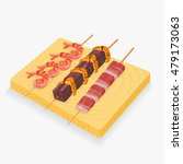 asian snack skewers vector... | Shutterstock .eps vector #479173063