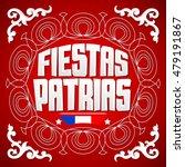 fiestas patrias   national... | Shutterstock .eps vector #479191867